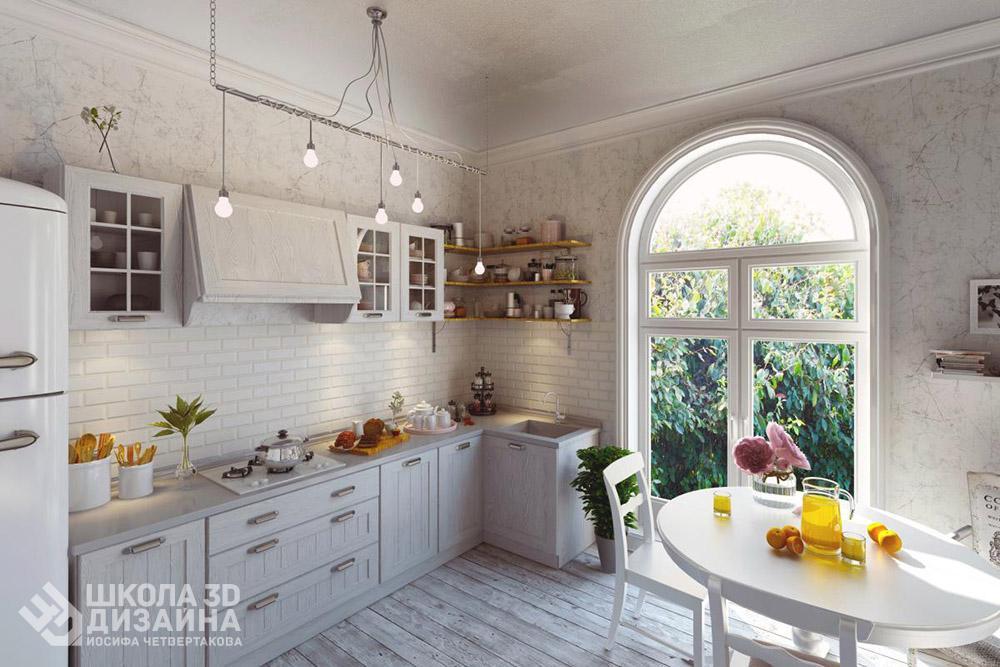 Кухня прованс в 3D Max