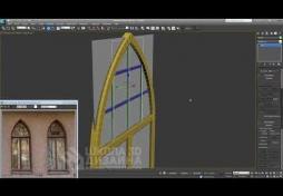 Моделирование готического окна в 3D Max