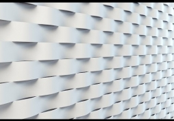Моделирование 3D панели Волна из сплайна в 3D Max