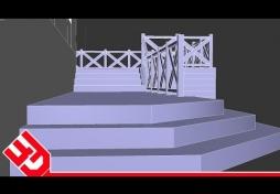 Лестница в 3D Max. Дом в 3D Max